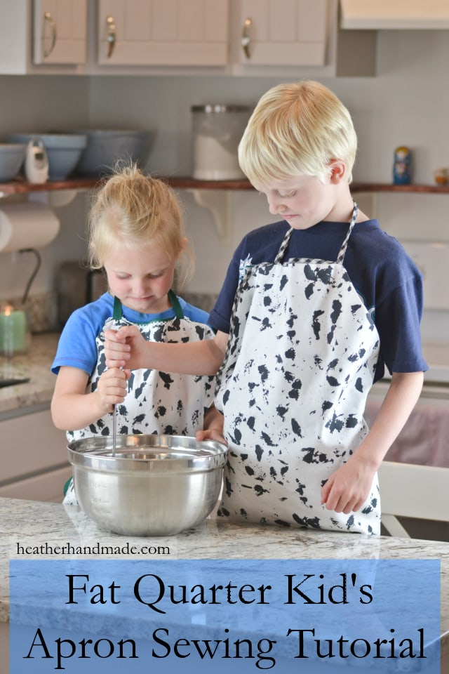 Sewing tutorial: Kid's apron from a fat quarter