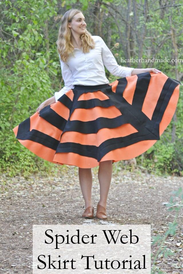 Sewing tutorial: Felt spider web skirt