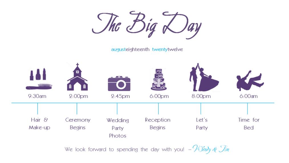 DIY Wedding Schedule Crinks Crafts