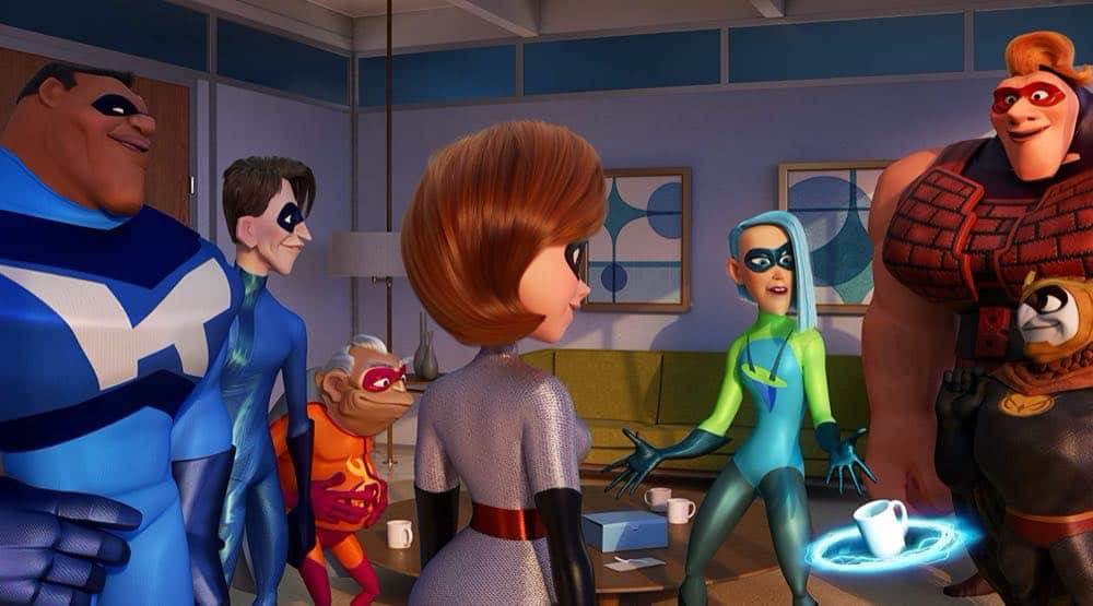 Incredibles 2 superheros meeting