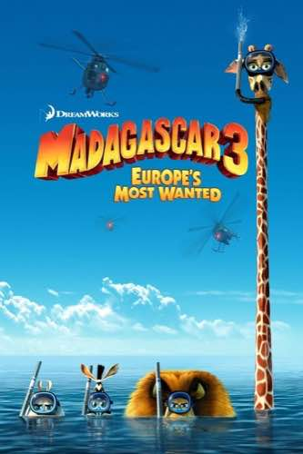 Madagascar 3 Europe's Most Wanted 2012 movie poster