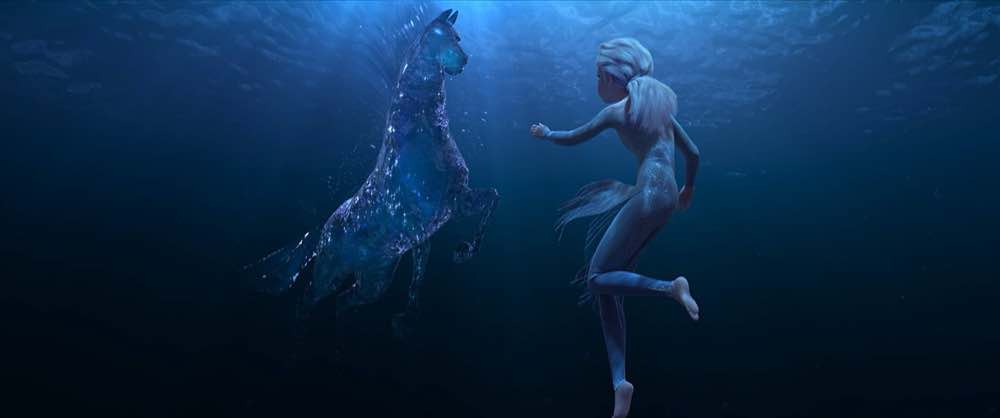 Frozen 2 Elsa and the water spirit in the form of a horse
