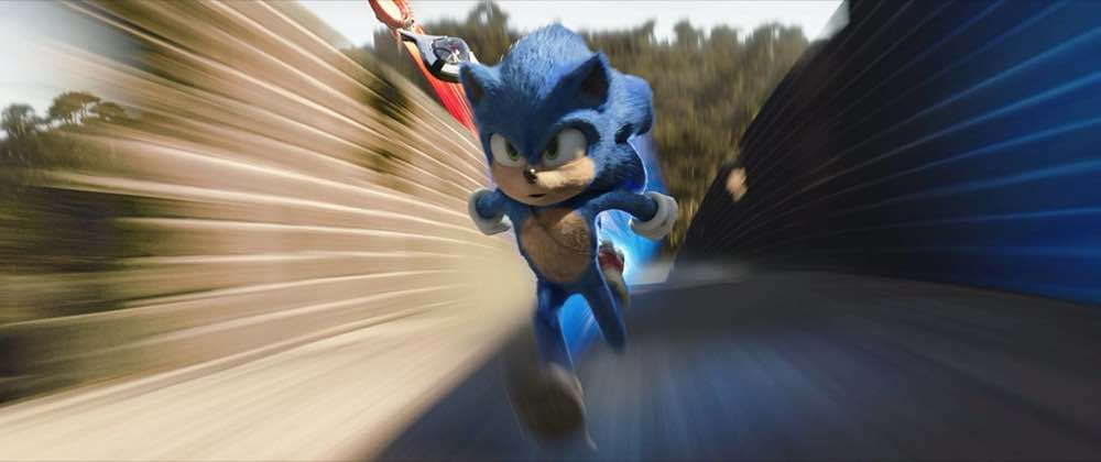 Sonic the Hedgehog Sonic at top speed