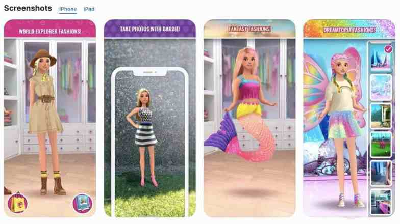 Barbie Fashion Closet app iphone screenshots