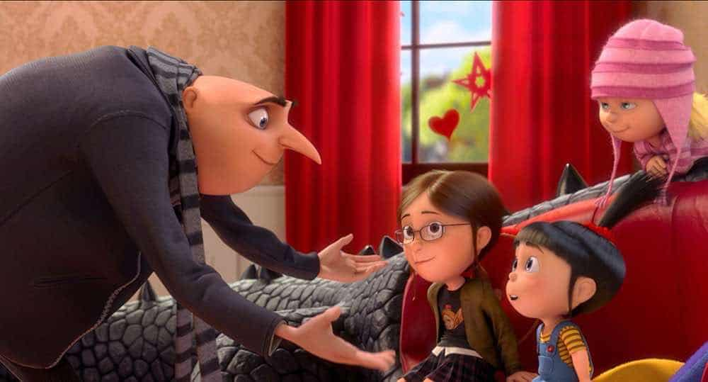 Despicable Me 2 Gru and his adopted girls