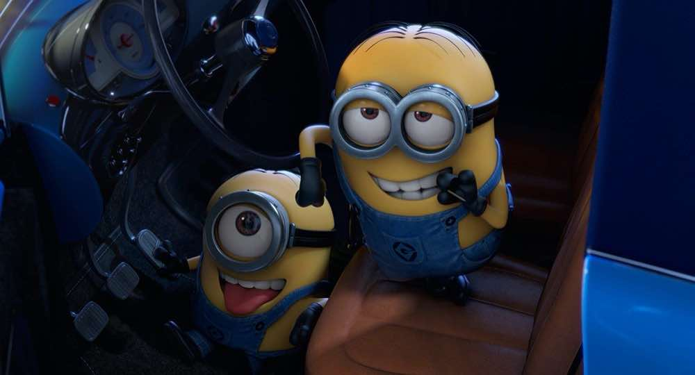 Despicable Me 2 Minions steal a ride