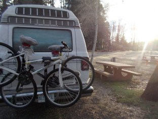 Roadie on a frosty morning