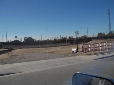 Border wall in San Luis