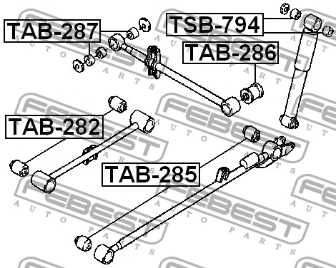 48727-87404-000 — ARM BUSHING FOR LATERAL CONTROL ARM