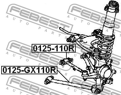 48705-30070 — REAR TRACK CONTROL ROD WITH BALL JOINT