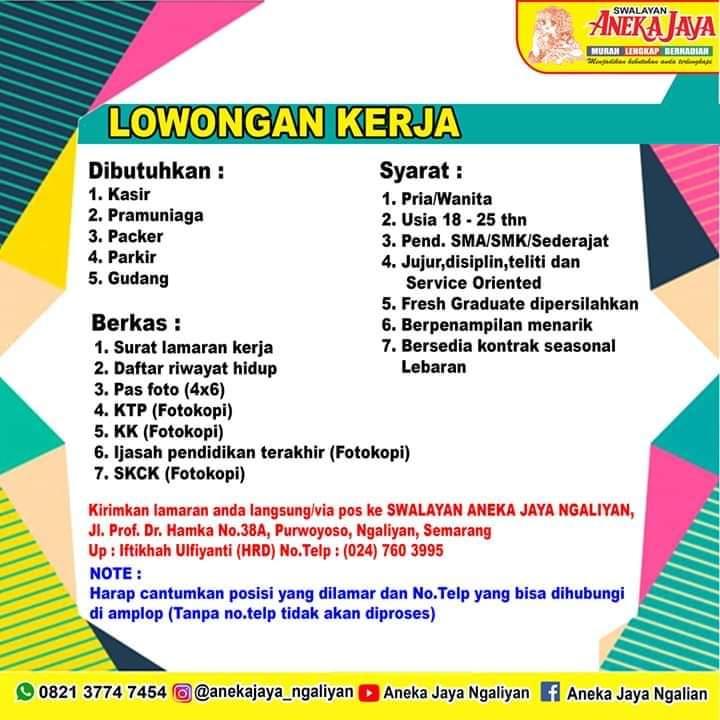Loker Aneka Jaya