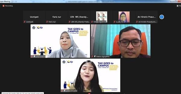 Siapkan Generasi Muda Sadar Pajak: KPP Pratama Semarang Barat Adakan Kegiatan Pajak Goes To Campus Di FEBI UIN Walisongo Semarang