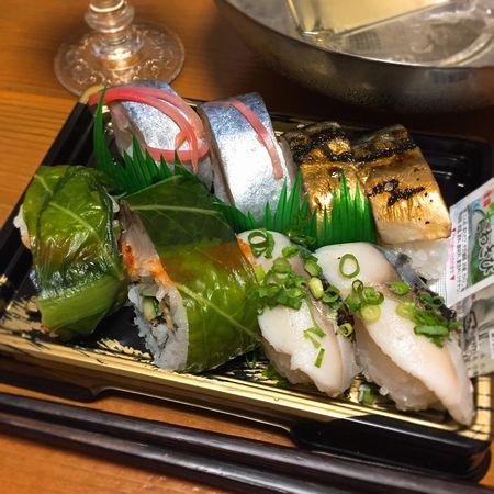 米子の鯖寿司盛り合わせ