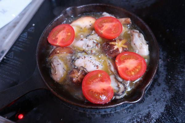 トマトに火が通れば出来上がり