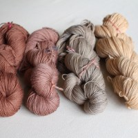 Natural dyeing: horse chestnut husks