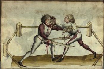 Langes Messer und Buckler