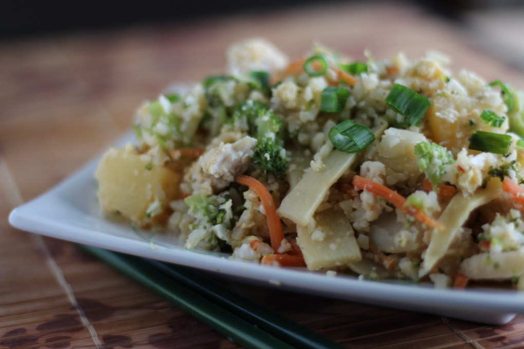 Cauliflower Fried Rice - a delicious, family-friendly paleo meal that you won't feel guilty eating! | fedandfulfilled.com