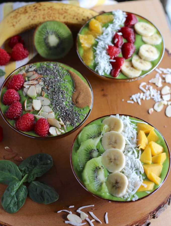Spring Green Smoothie Bowls