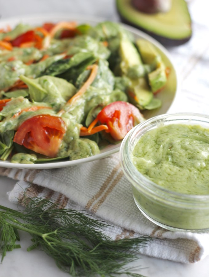 Dairy-Free Avocado Ranch Dressing