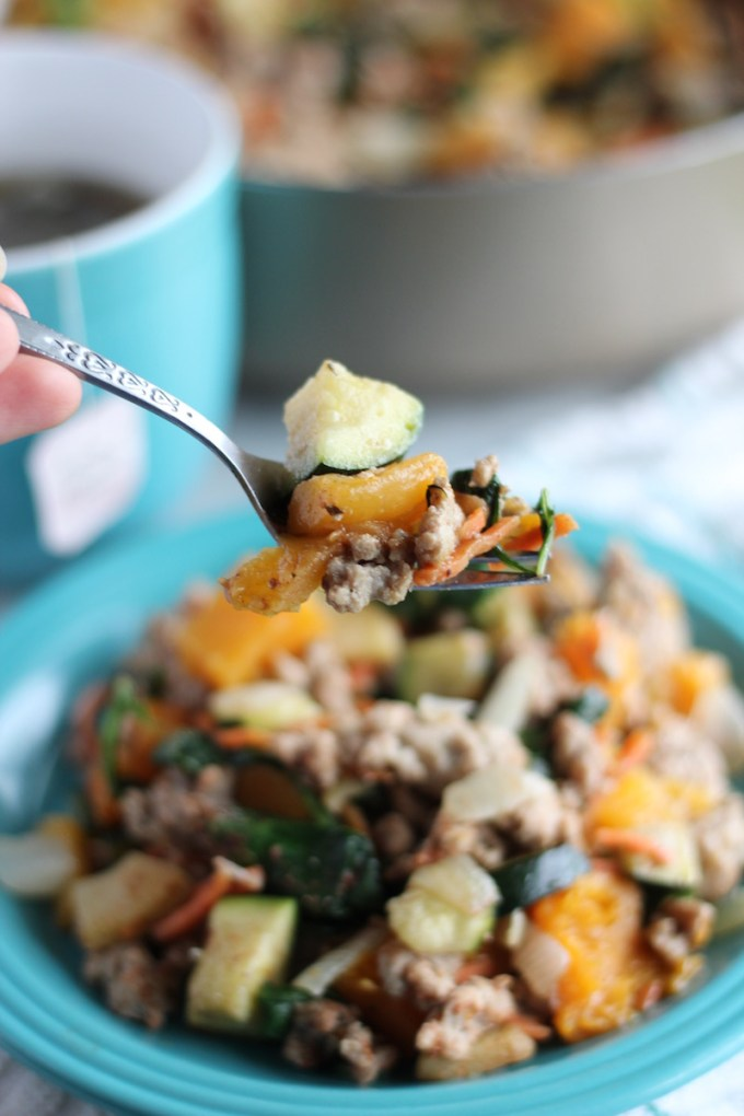 Turkey Apple Breakfast Hash - a simple, AIP breakfast that is a little sweet, a little savory, and a LOT delicious! | fedandfulfilled.com
