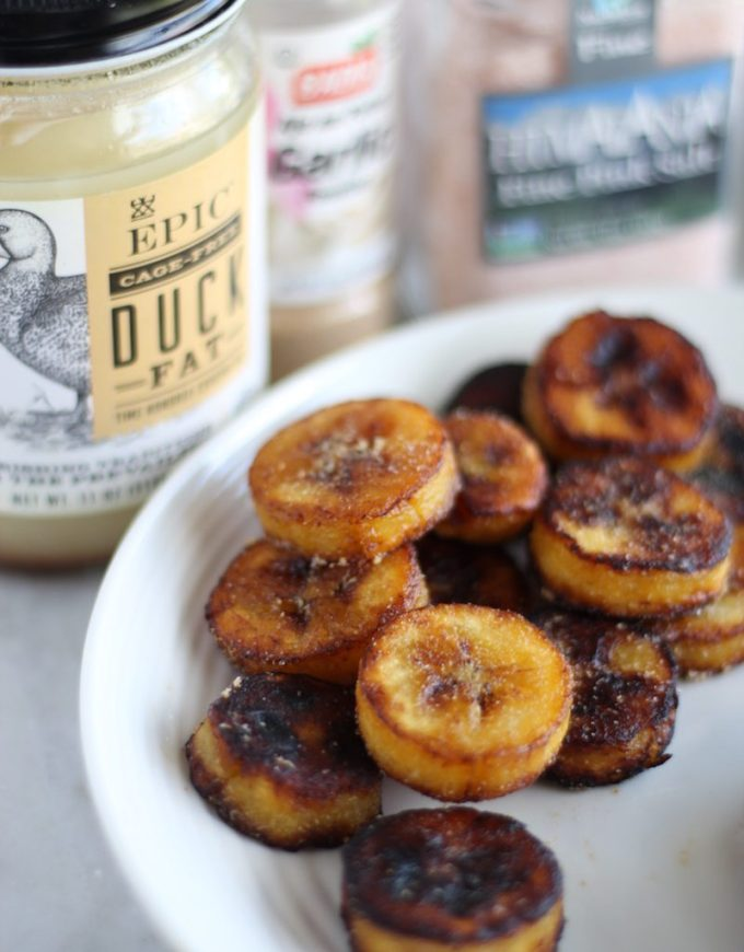 Sweet and Savory Plantains - an easy, healthy snack that you can make sweet or savory! Just 4 ingredients! | fedandfulfilled.com