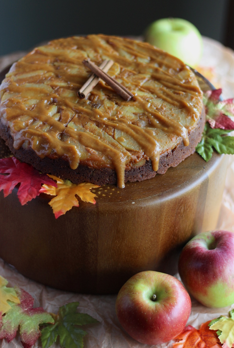 Paleo Caramel Apple Upside Down Cake (AIP)