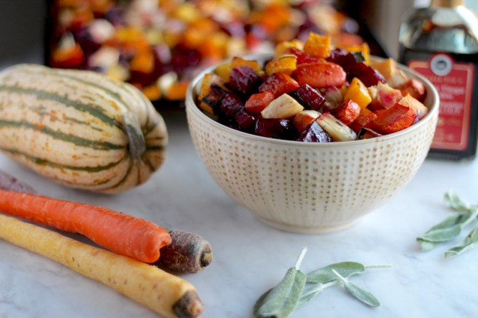 Roasted Rainbow Root Veggies - a Paleo, AIP side dish that is simple, yet delicious and SO colorful! | fedandfulfilled.com