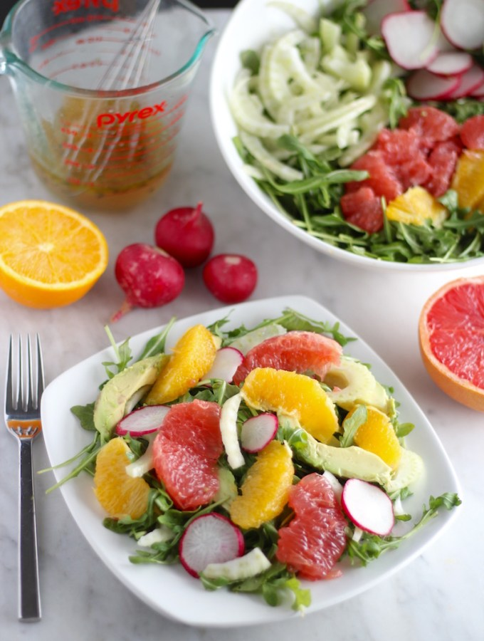 Citrus Fennel Salad with Grapefruit Vinaigrette (AIP)