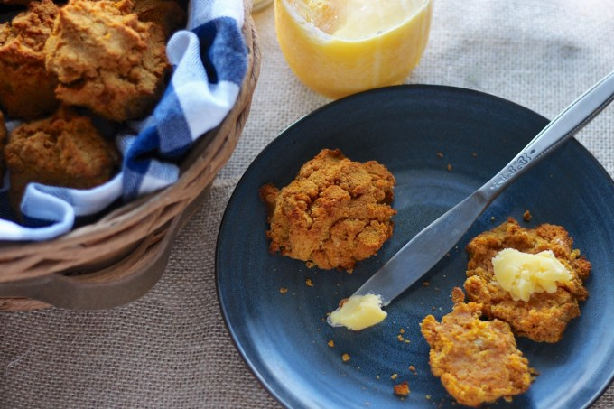 Easy Paleo Drop Biscuits (AIP) - soft, tender biscuits are lightly sweetened with pumpkin, applesauce, and a touch of honey! SO good! | fedandfulfilled.com