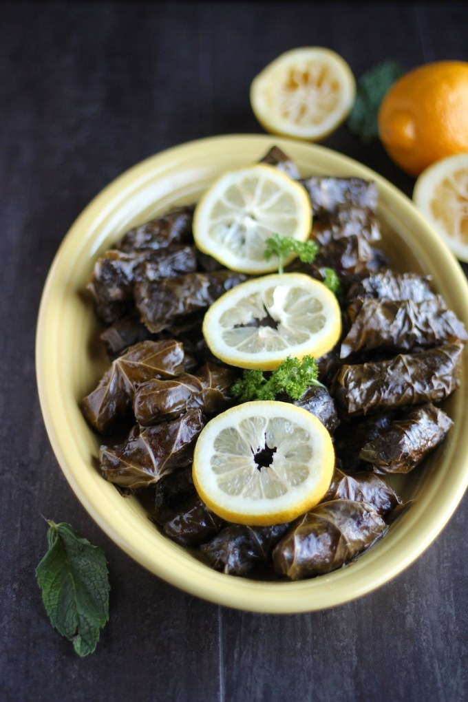 Instant Pot Paleo Stuffed Grape Leaves (AIP) - a healthy, Paleo take on traditional rolled grape leaves that is made easy in the Instant Pot! | fedandfulfilled.com