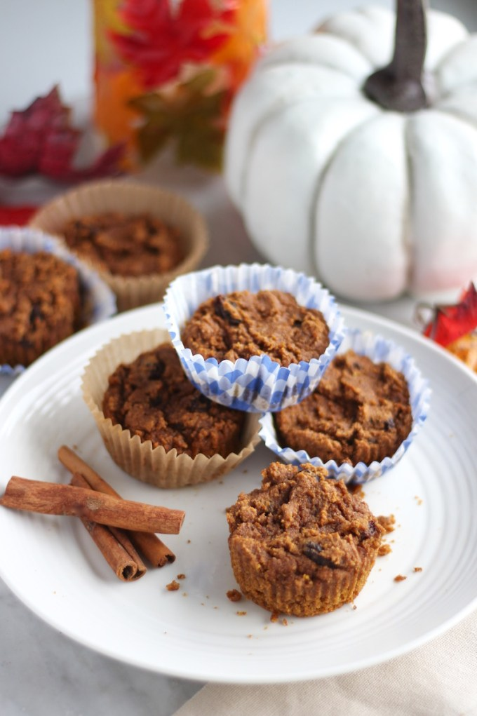 Paleo Pumpkin Spice Muffins (AIP) - guilt-free pumpkin muffins featuring Fall spices, raisins, and tigernut flour! Delicious and allergy-friendly! | fedandfulfilled.com