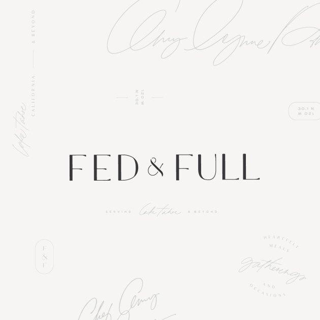 Branding Design   Fed & Full   Chef Amy Lynne Power