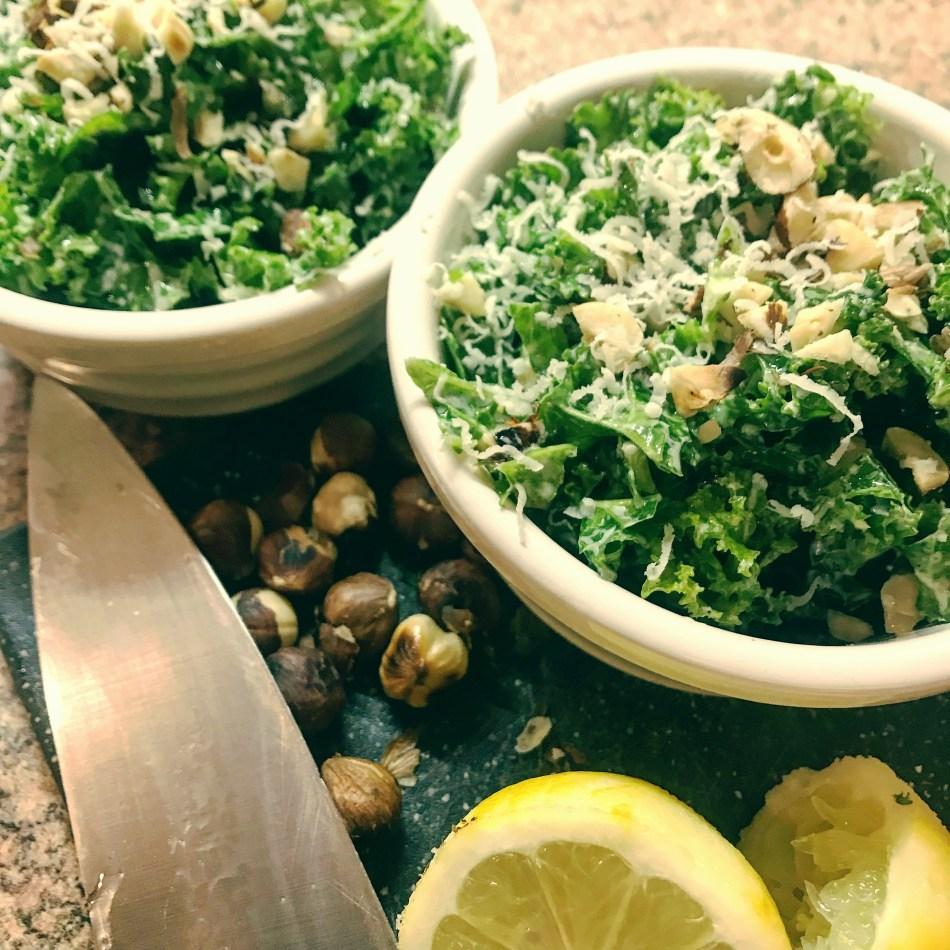 Jamie Oliver nutty kale salad