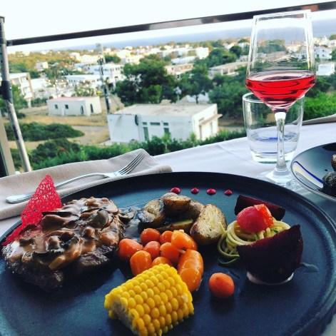 Good steak meal in Pefkos