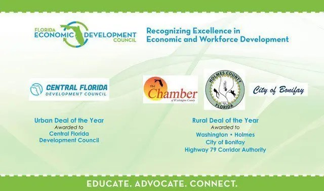 Slide for 2019 FEDC Economic Development Deals of the Year