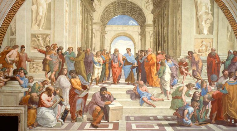 La scuola di Atene di Raffaello Sanzio da Urbino
