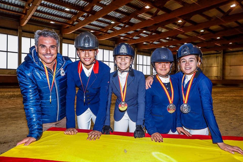 Dos medallas de plata en el Campeonato de España de Menores de Salto 2019