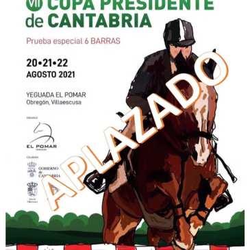 La VII Copa Presidente de Cantabria ya tiene nueva fecha: 15, 16 y 17 de octubre