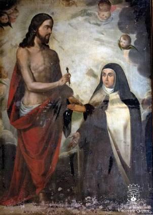 Visión imaginaria del Matrimonio Espiritual de Santa Teresa de Jesús