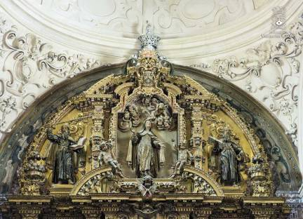 Ático del retablo mayor. Peter Reling, s. XVIII.