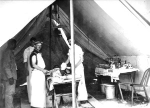 Civil War Surgery in Field Hospital