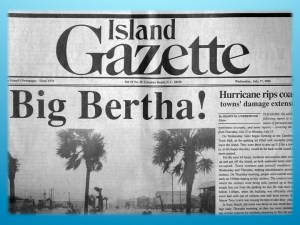 Island Gazette - Hurricane Bertha