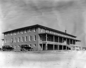 EDCCO Club had a dining room just for the Ethyl Dow staff and employees. This building was The Breakers Hotel in Wilmington Beach, leased by Ethyl Dow for their employees.