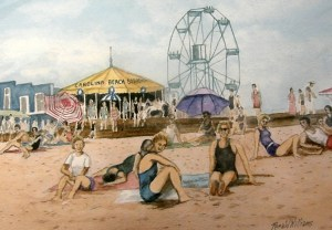 Raffle Print: Carolina Beach Boardwalk