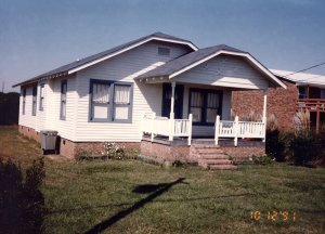 Grandmother's house after it was moved to Kure Beach. (Photo 1991)