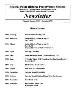 1998 Newsletter Historic Features