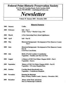 2003 Newsletter Historic Features