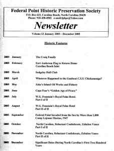 2005 Newsletter Historic Features
