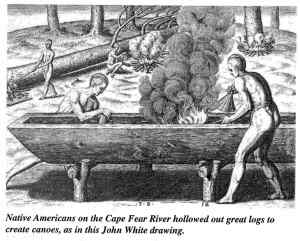 Native Americans - Hollowed Out Logs