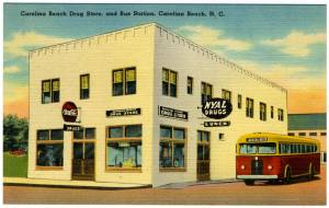 Carolina Beach - Nyal Drugs and Bus Station 1930-1948